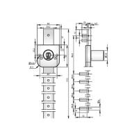 ABLOY®OF233С врезной замок для группового запирания ящиков офисной мебели