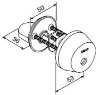Цилиндр с поворотной кнопкой ABLOY CY001C (матовый хром)