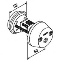 Цилиндр с заглушкой снаружи ABLOY® CY061C (хром)