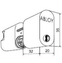 Двойной цилиндр ABLOY® CY202 N (хром)
