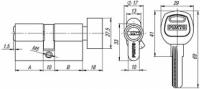 Цилиндровый механизм с вертушкой A202/60 mm (25+10+25) SN мат. никель 5 кл.