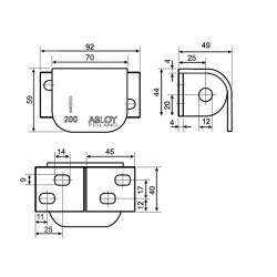ABLOY PL200 (для правосторонних дверей)