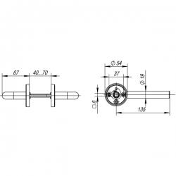 Ручка раздельная Fuaro (Фуаро) DSS-0201/19 (нержавейка), квадрат 8x110 мм
