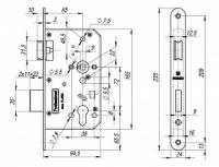 FL-0434 Замок для противопожарных дверей