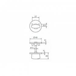 Поворотная кнопка LH001 WC Fe/JVA (сталь с белой окраской)