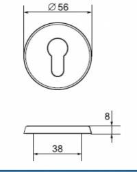 Щиток LH004 PZ Fe/JVA (сталь c белой окраской)