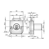 ABLOY®OF235C врезной замок повышенной надежности с двойным крюкообразным ригелем для офисной мебели