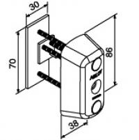 Одинарный цилиндр с наружной стороны ABLOY CY063 C (хром)