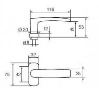 FORUM 4/0650 Ms/CR (латунь хромированная)