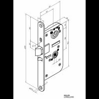 ABLOY  LE180L (3.DOOR LEFT OUT) механический замок