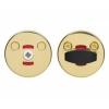 Поворотная кнопка LH001 WC Fe/KULA (сталь покрытая золотистым лаком)