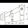Abloy CY323 U. Цилиндр с поворотной кнопкой (хром)