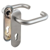Ручка дверная Fuaro (Фуаро) DH-0433 SS с пружиной, НЕРЖАВЕЙКА 304, квадрат 9x140 мм