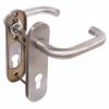Ручка дверная Fuaro (Фуаро) DH-0433 SS с пружиной, НЕРЖАВЕЙКА 201, квадрат 9x140 мм