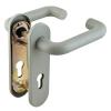 Ручка дверная DH-0433/GR NE (СЕРАЯ) с пружиной для замка (FL-0432, 0433, 0434), НЕЙЛОН