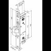 ABLOY LE310/35 Fe/ZL L Корпус открываемого ручкой замка