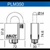 ABLOY  PLM350/25 T